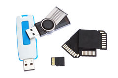 Variety of storage memory. Stock Photography
