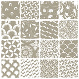 Variety styles seamless patterns set Royalty Free Stock Photography