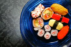 Variety of Sushi Royalty Free Stock Photography