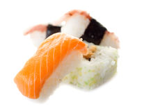Variety on sushi Stock Image