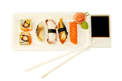 Variety of sushi Stock Images