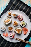 Variety of sushi rolls Royalty Free Stock Photography