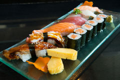 Variety Sushi Set Royalty Free Stock Photography