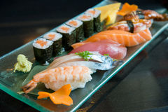 Variety Sushi Set Stock Photography