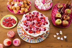 Variety of sweet treats on a table Royalty Free Stock Photo