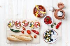 Variety of Tapas and Pintxos Snacks stock photography