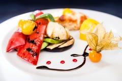 Variety of tasty baked vegetables Stock Photo