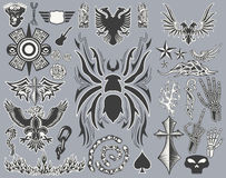 Variety of Tattoo  - tribal vector set-collection Royalty Free Stock Photos