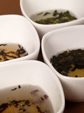 A variety of teas royalty free stock photos