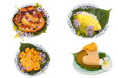 Variety of thai dessert Royalty Free Stock Photo