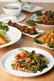 Variety of Thai Food Dishes Stock Photos