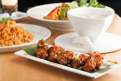 Variety of Thai Food Dishes Stock Images