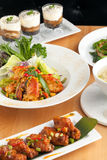Variety of Thai Food Dishes Royalty Free Stock Photography