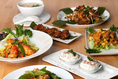 Variety of Thai Food Dishes Royalty Free Stock Images