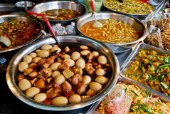 Variety of thai food in market. Variety of thai food in fresh market, Asia, Thailand stock photo