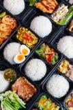 Variety Thai Meal Boxes. Stock Photos