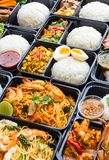 Variety Thai Meal Boxes. Royalty Free Stock Photo