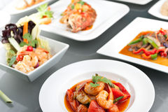 Variety of Thai Meals Stock Photography