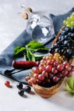 Variety of grapes Stock Photo
