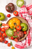 Variety of tomatoes Stock Images