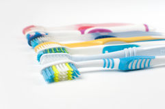 Variety of toothbrushes Stock Image