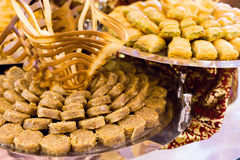 Variety of turkish baklava Royalty Free Stock Photos