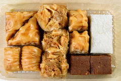 Variety of Turkish baklava Royalty Free Stock Photo