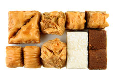 Variety of Turkish baklava Stock Images