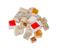 Variety Turkish Delight isolated Royalty Free Stock Images
