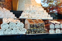Variety of Turkish delights Royalty Free Stock Photography