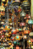 Variety of turkish lamps Royalty Free Stock Images