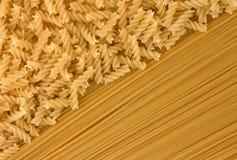 Variety of types and shapes of dry Italian pasta. Tasty Stock Photos