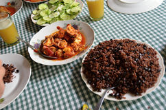 A variety of typical Cuban food on the table- Cuba Stock Photo