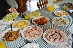 A variety of typical Cuban food on the table- Cuba Stock Images
