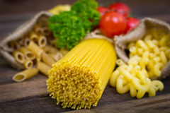 Variety of uncooked pasta Stock Image