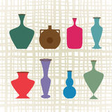 Variety of vases jugs Royalty Free Stock Photo