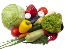 Variety of vegetables; colorful Stock Images
