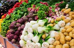 Variety of vegetables at market Stock Image