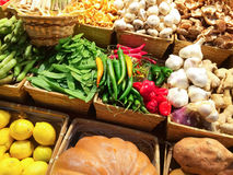 Variety of vegetables at the market Stock Photo