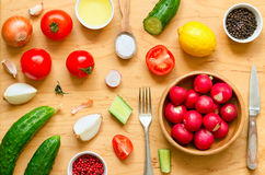 Variety of vegetables for salad Stock Image