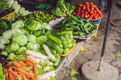 The variety of vegetables in the Vietnamese market Royalty Free Stock Photo