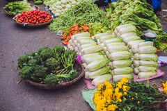 The variety of vegetables in the Vietnamese market Royalty Free Stock Photos