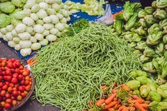 The variety of vegetables in the Vietnamese market Stock Photos