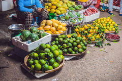 The variety of vegetables in the Vietnamese market Royalty Free Stock Images