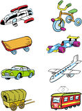 Variety of vehicles Stock Photos