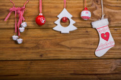 Variety of vintage Christmas decoration Stock Image