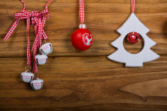 Variety of vintage Christmas decoration Royalty Free Stock Photography