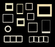 Variety of vintage frames vector. Variety of vintage frames isolated on black background in vector format Stock Image