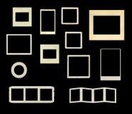 Variety of vintage frames vector. Variety of vintage frames isolated on black background in vector format vector illustration