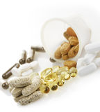 Variety Of Vitamins Stock Photography